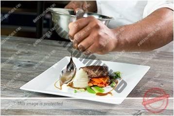 Cara menyajikan masakan gaya landscape 7